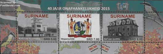 Surinam-40-years-stamps