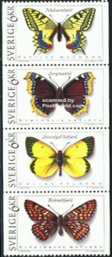 Butterflies on stamps.