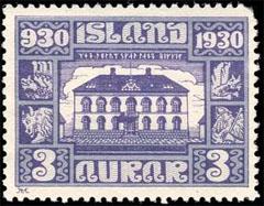 parliament building in Reykjavik stamp