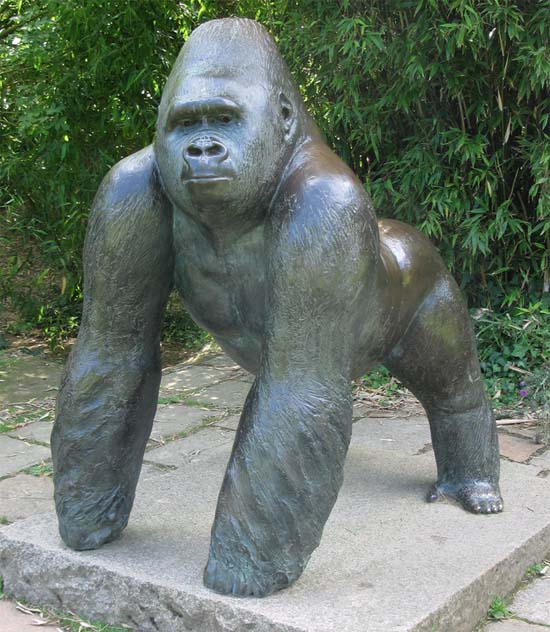 Statue of Jambo by Ralph Brown at Durrell Wildlife Park