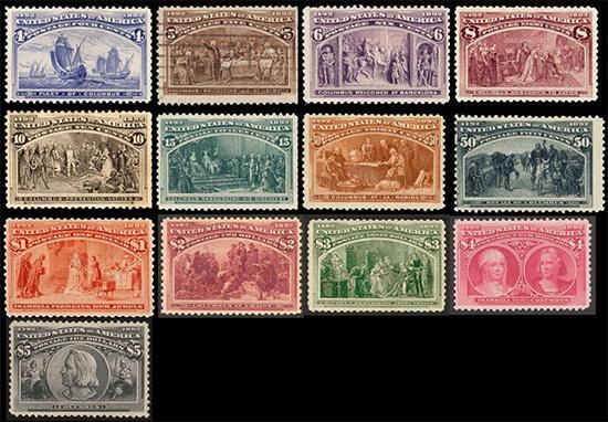 Columbus stamps usa