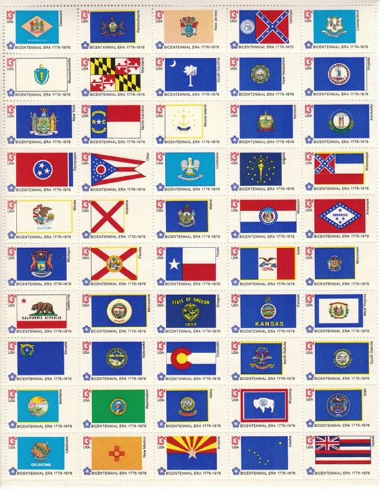 Flags sheet 1976