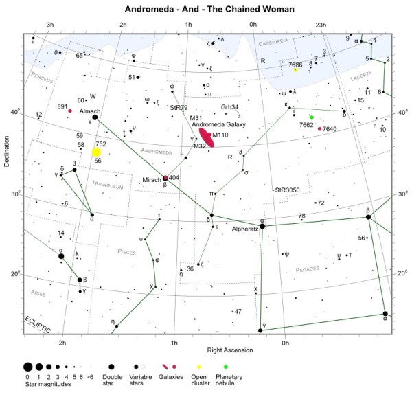 Andromeda - Constellation Guide | Free Star Charts