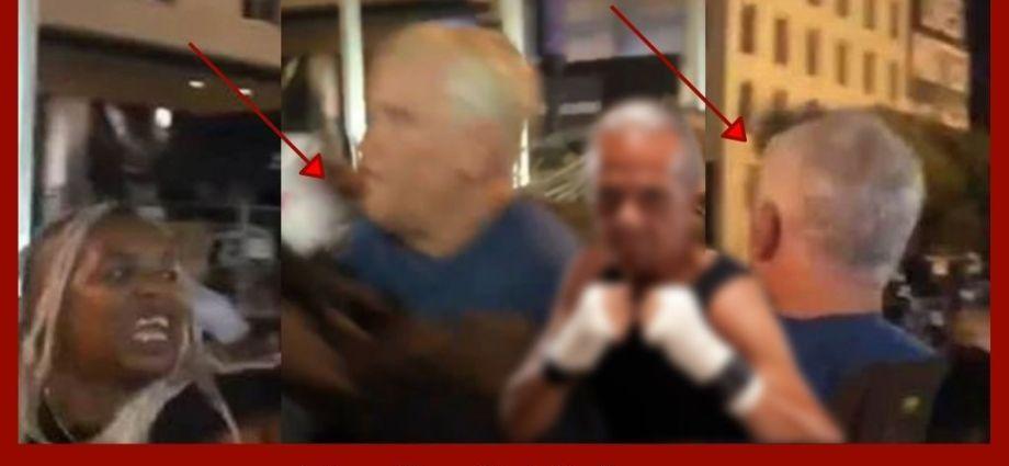 Violent Protesters Assault Elderly