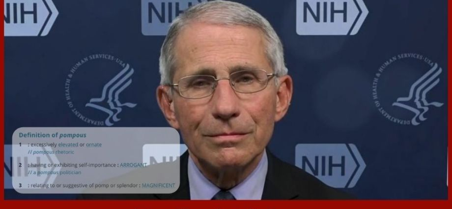 Dr. Fauci's Latest Recommendation