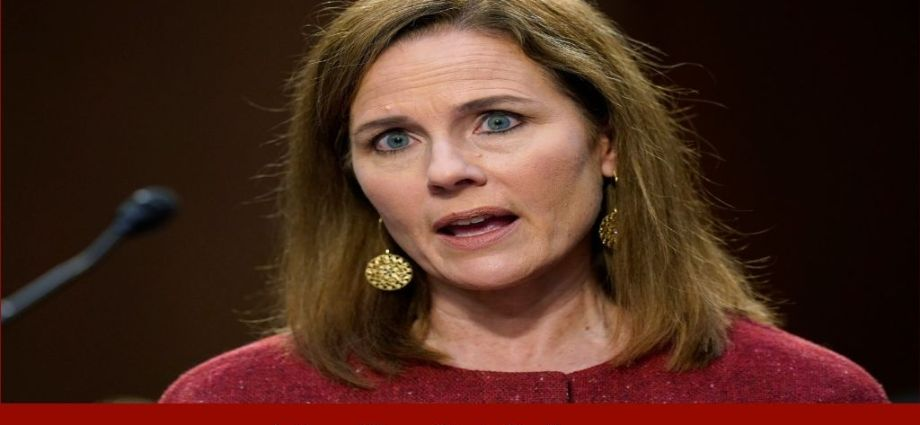 Amy Coney Barrett Lashes Out At Critics Of Court