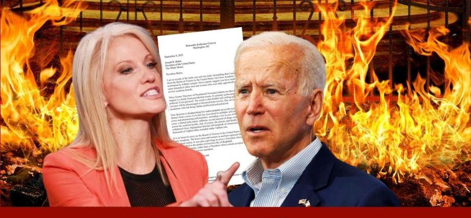 Kellyanne Conway Destroys Biden In Public Letter