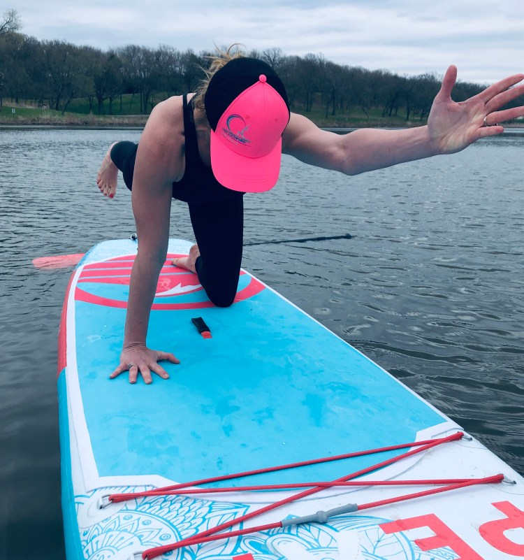 Yoga on a SUP