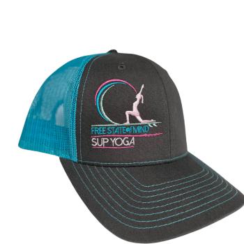 Aqua & Grey Baseball Hat