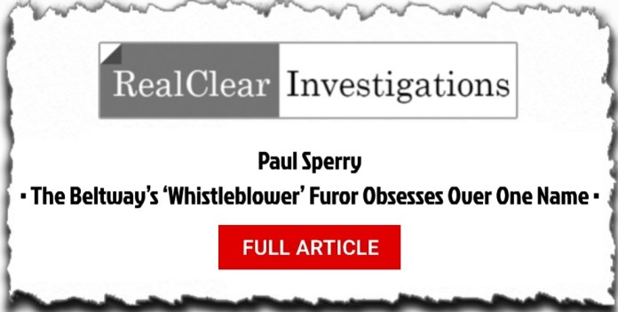 Whistleblower is Eric Ciaramella