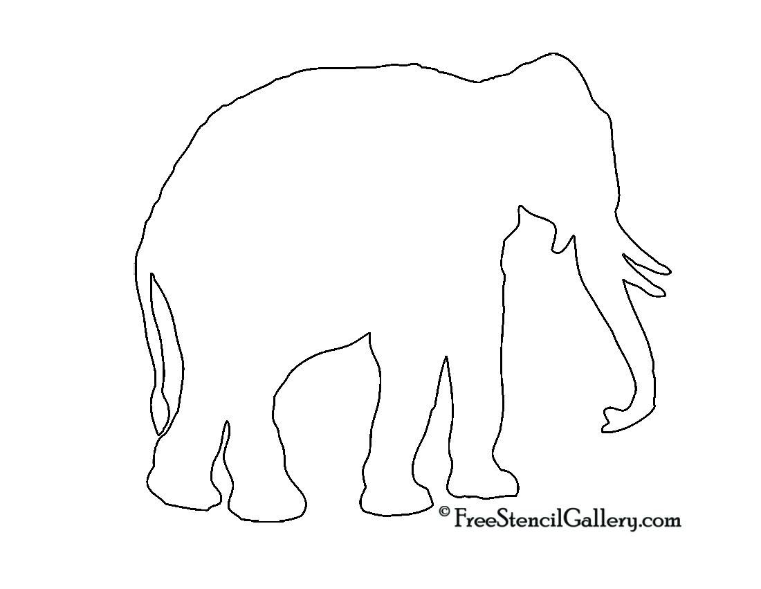 Download Elephant Carving Template Free