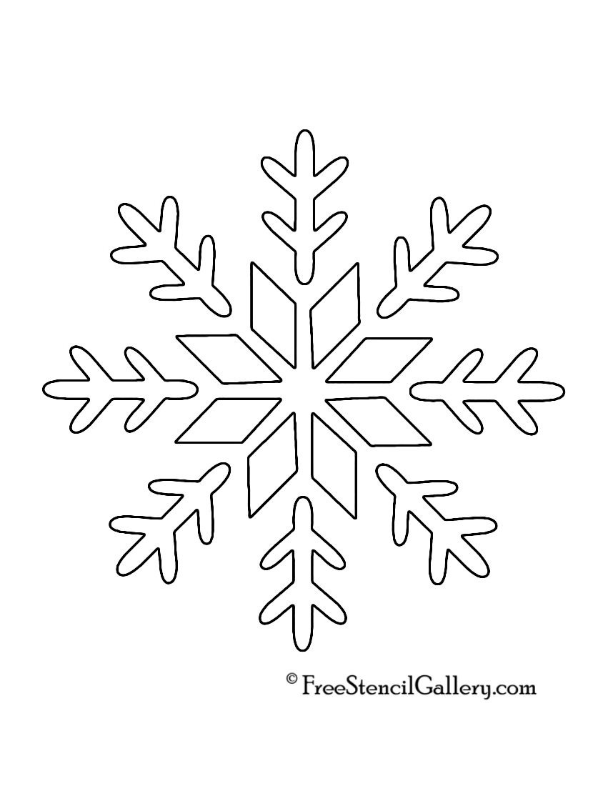 Traceable Snowflake Patterns Cutouts