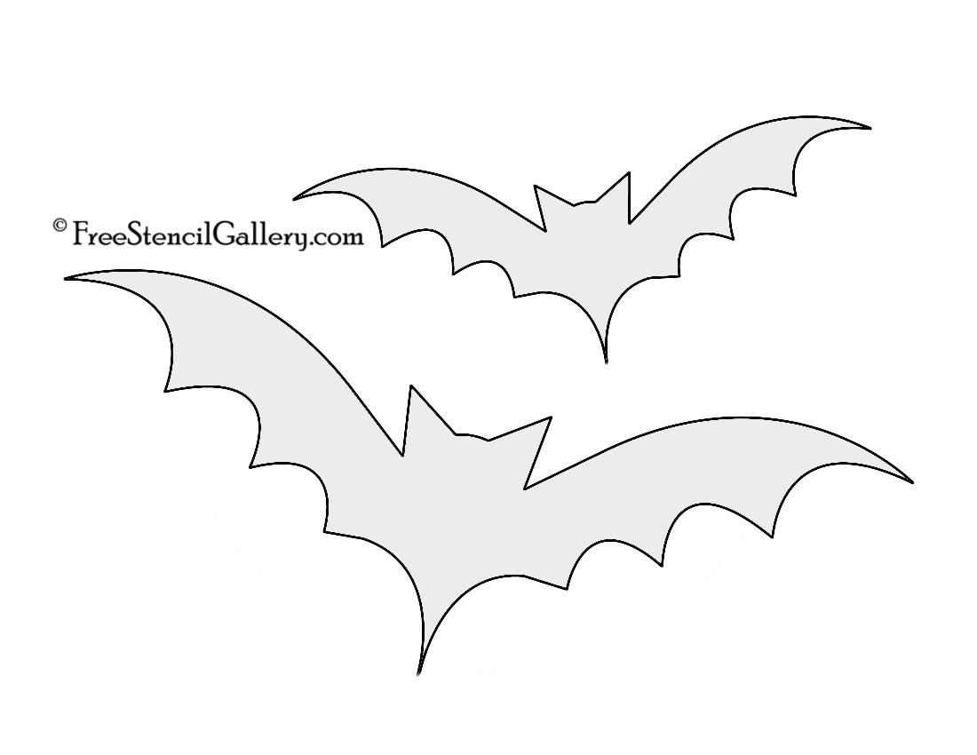 Bat Silhouette Stencil