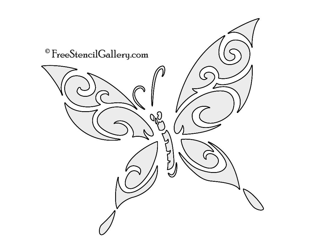Butterfly Stencil 03