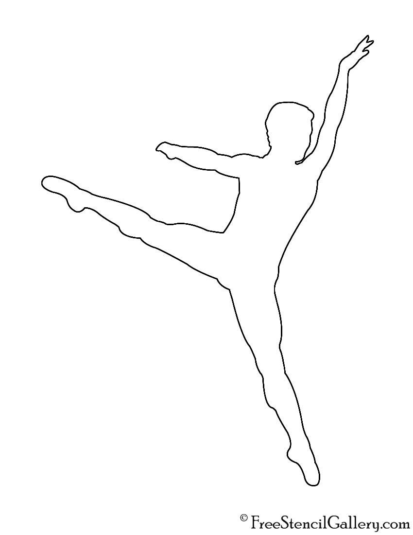 photo regarding Ballerina Silhouette Printable identified as Printable Ballerina Silhouette Stencil