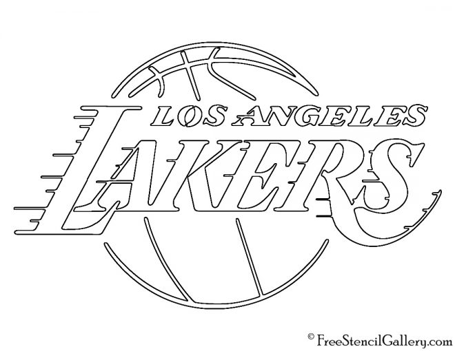 los angeles lakers  free coloring pages