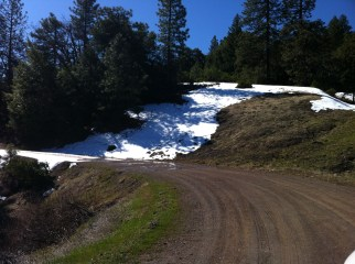 Snow at the top of the ranch