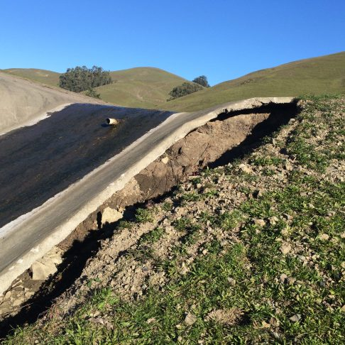 Lower spillway undermined