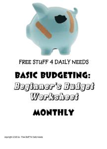 budget worksheet