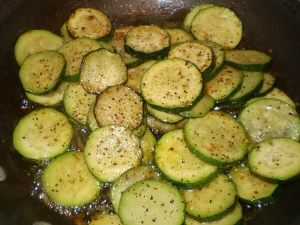 lemon pepper zucchini cooking