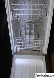 dishwasher with door open