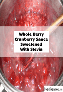 whole berry cranberry sauce sweetened with stevia