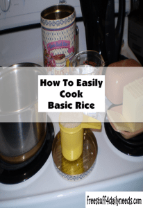 how to easily cook basic rice free stuff 4 daily needs