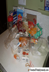 items removed from coffee cupboard