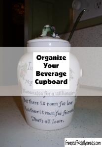 Organize Your Beverage Cupboard