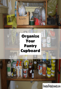 Organize Your Pantry Cupboard