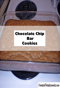 chocolate chip bar cookies