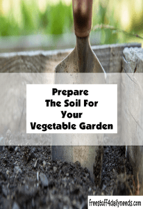 prepare the soil for your vegetable garden