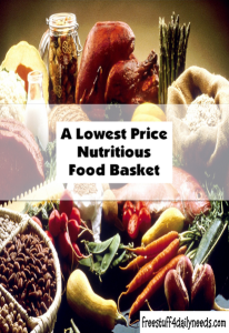 a lowest price nutritious food basket