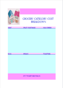 grocery category cost breakdown photo for blog download