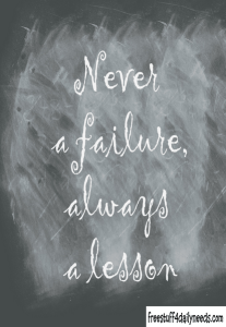 never a failure quote