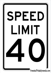 speed limit sign 40 kmh