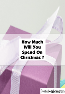 how much will you spend on christmas