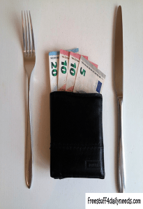 money fork and knife