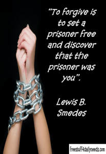 forgive and set the prisoner free