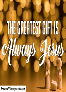 the greatest gift is jesus 2