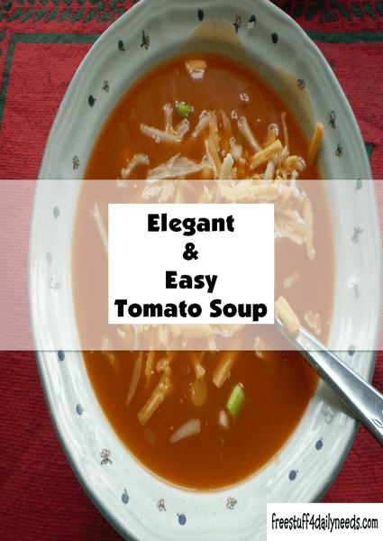 elegant and easy tomato soup