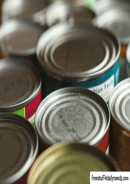 cans of food close up