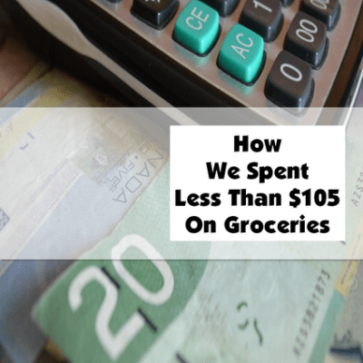 How We Spent Less Than 105 On Groceries