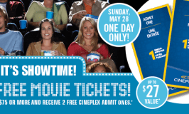 Get 2 Free Cineplex Movie Tickets at Shoppers Drug Mart
