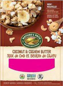 URGENT RECALL on Nature's Path Coconut & Cashew Butter Crunchy Granola ~ June 2017
