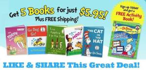 Dr. Seuss Book Deal ~ 5 Books,  An Activety Book and Stickers For Only $5.95 Shipped!