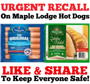 URGENT Recall on Maple Lodge Hot Dogs!