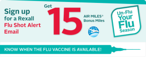 15 FREE Air Miles from Rexall When You Get The Flu Shot!