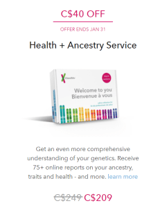 $40.00 Off 23 And Me DNA Health + Ancestry Kits!