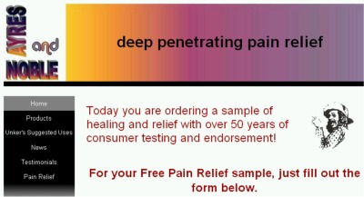 Ayres and Nobel Deep Penetrating Pain Relief Free Sample - US